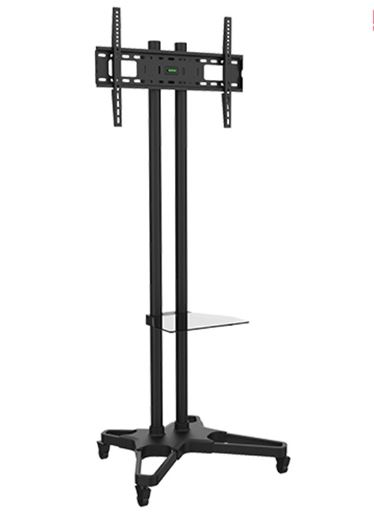 TV POLE STAND WITH SHELF