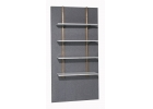 SHELVES WHITE WOOD LEVEL OR SLOPING Adjustable