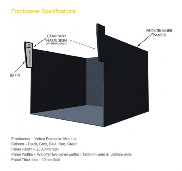 VELCRO RECEPTIVE EXHIBITION PANELS 2.3m x 1.2m